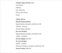 Salary History In Resumes 14 Resumes With Salary History Profesional Resume
