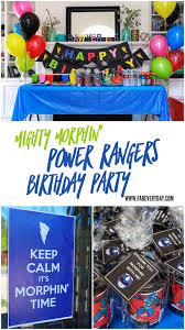 how to throw a mighty morphin power rangers themed birthday party