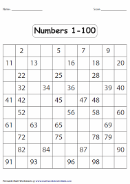 Fill In The Blank 100s Chart Number Charts