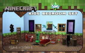 Minecraft Bedroom Stuff Minecraft Kids Bedroom Set New Meshes Updated Sims 4 Designs