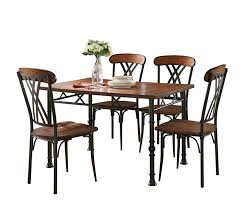 get ations pilaster designs black ash finish wood with metal dining dinette kitchen table