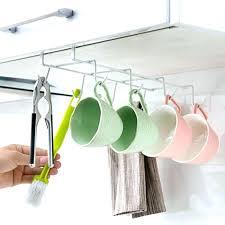 k cup rack hanging cup rack under cabinet metal mug cup holder drying rack kitchen hanging