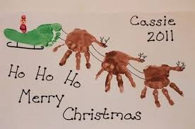 166 Best Craft Footprint Images On Pinterest  Footprint Crafts Christmas Crafts With Babies