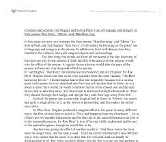 compare and contrast ted hughes and sylvia plath s use of language  document image preview