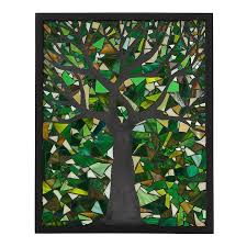spring tree stained glass panel