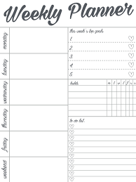 Weekly Planner Free Template Pao Spinetti