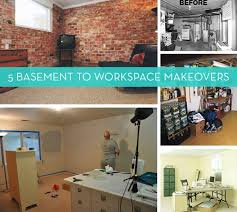 before and after 5 inspiring basement to workspace makeovers unfinished basement before after91 basement