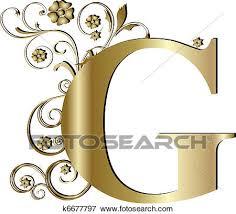 letter g stock illustration of capital letter g gold k6677797 search eps
