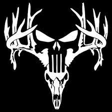 Deer skull decal - Zeppy.io