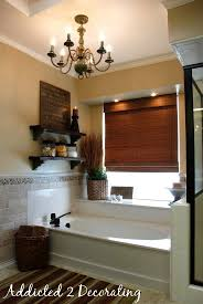 classy chandelier over bathtub can i use a my little design help addicted 2 decorating bath