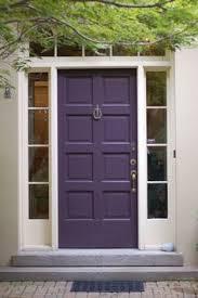 painted residential front doors.  Residential Benjamin Moore  Dark Purple Front Door And Shutters Are Plum Perfect By  Benjamin Moore In Painted Residential Front Doors R