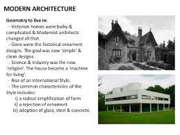 MODERN ARCHITECTURE ...