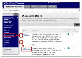 Discussion Board How To Post A New Thread Students Uc San Diego