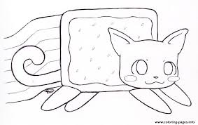 Small Picture Nyan Cat By Kitty Coloring Pages Printable
