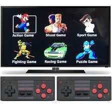 Máy chơi game điện tử cầm tay 4 nút bộ điều khiển trò chơi không dây mini  4k tích hợp 620 trò chơi 8 bit đầu ra HDMI - cài thêm trò