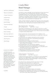 Retail Manager Resume Template Inspiration Store Manager Resume Example Cv Template For Supermarket Job