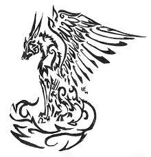 tribal wolf with wings drawing. Interesting Wings Winged Wolf Tribal Tattoo By Skrayle  Inside With Wings Drawing
