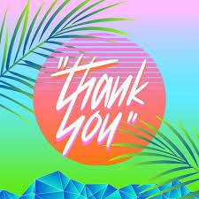 Summer Thank You Thank You Typography Vaporwave Summer Vector Download Free Vector