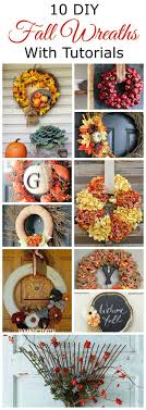 celebrate autumn with one of these 10 diy fall wreaths for your front door including tutorials and lots of great fall inspiration