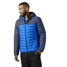 reebok jacket. reebok - outdoor padded jacket collegiate navy s96417