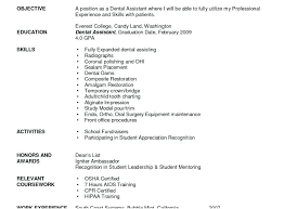 Dental Assistant Resume Objective Dental Assistant Resume Mattbrunsme 56