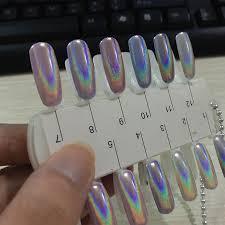 1g/box Laser Silver Holographic Shiny Powder Magic Mirror Powder ...