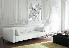 White Living Room Designs White Themed Living Room Idea With Wooden Shelves Living Room