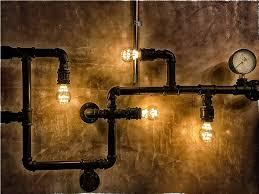 plumbing pipe light fixture