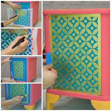 image stencils furniture painting. how to stencil a recessed furniture panel the easy way image stencils painting