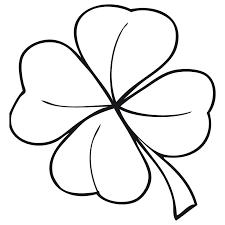 trebol para colorear trebol de la suerte dibujalia dibujos para colorear estaciones