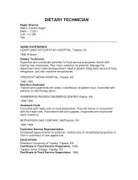 Dietary Job Description Dietary Aide Resume No Experience Displaced