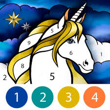 Coloring pages proudly powered by wordpress. Unicorn Color By Number Book By Olga Bagryanskaya