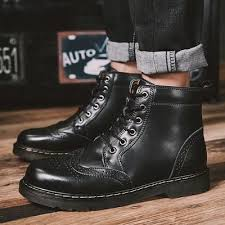 ZUNYU <b>2019 New Genuine leather</b> Men Boots Spring Autumn And ...