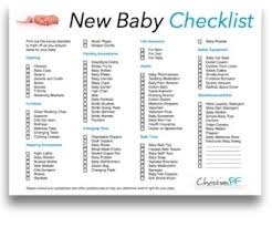 A Printable Newborn Baby Checklist