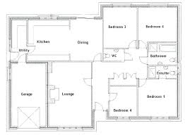 one level floor plans 4 bedroom house plans one story with basement 4 bedroom house plans