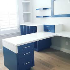 custom desks for home office. Terrific Custom Painted Office Furniture Blue Simple Built Home Desks For