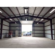 ... China Simple prefabricated light steel frame house, small warehouse ...