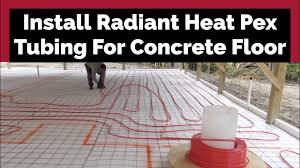 installing radiant pex tubing in