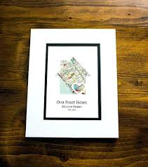 thoughtful housewarming gifts our first home new home housewarming gift personalized map thoughtful housewarming gift