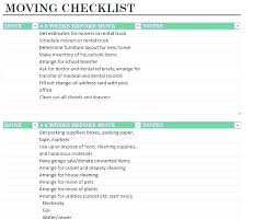 Ce Move Checklist Excel Template Free Lovely Moving Ms Office
