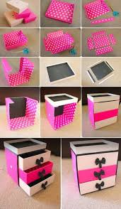 diy box organizer drawer cardboard