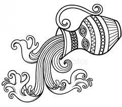 Tetování Vodnář Stock Vektory Royalty Free Tetování Vodnář