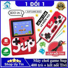 Máy chơi game 4 nút Sup 400 trò chơi vui nhộn, kết nối được với TV, chơi  được 2 người