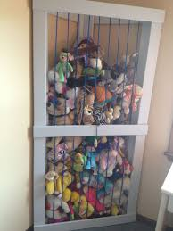 Stuffed Animal Zoo made in the corner of the room. Best use of a corner