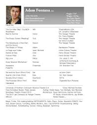 Gallery Of Download Free Opera Singer Resume Template Droidfilecloud