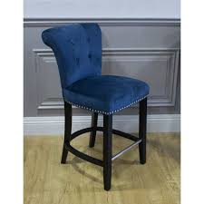 royal blue bar stools. Plain Stools Breakfast Bar Stool With Knocker  Royal Blue Velvet Intended Stools O