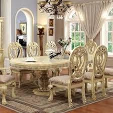 furniture of america beaufort formal dining set cream