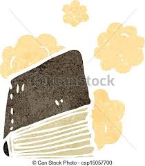 dusty old book cartoon csp15057700
