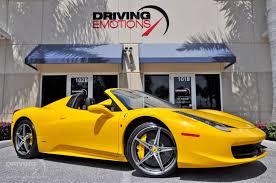 The 458 replaced the f430. 2015 Ferrari 458 Spider Stock 5873 For Sale Near Lake Park Fl Fl Ferrari Dealer