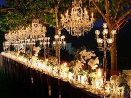 image of chandelier outdoor wedding